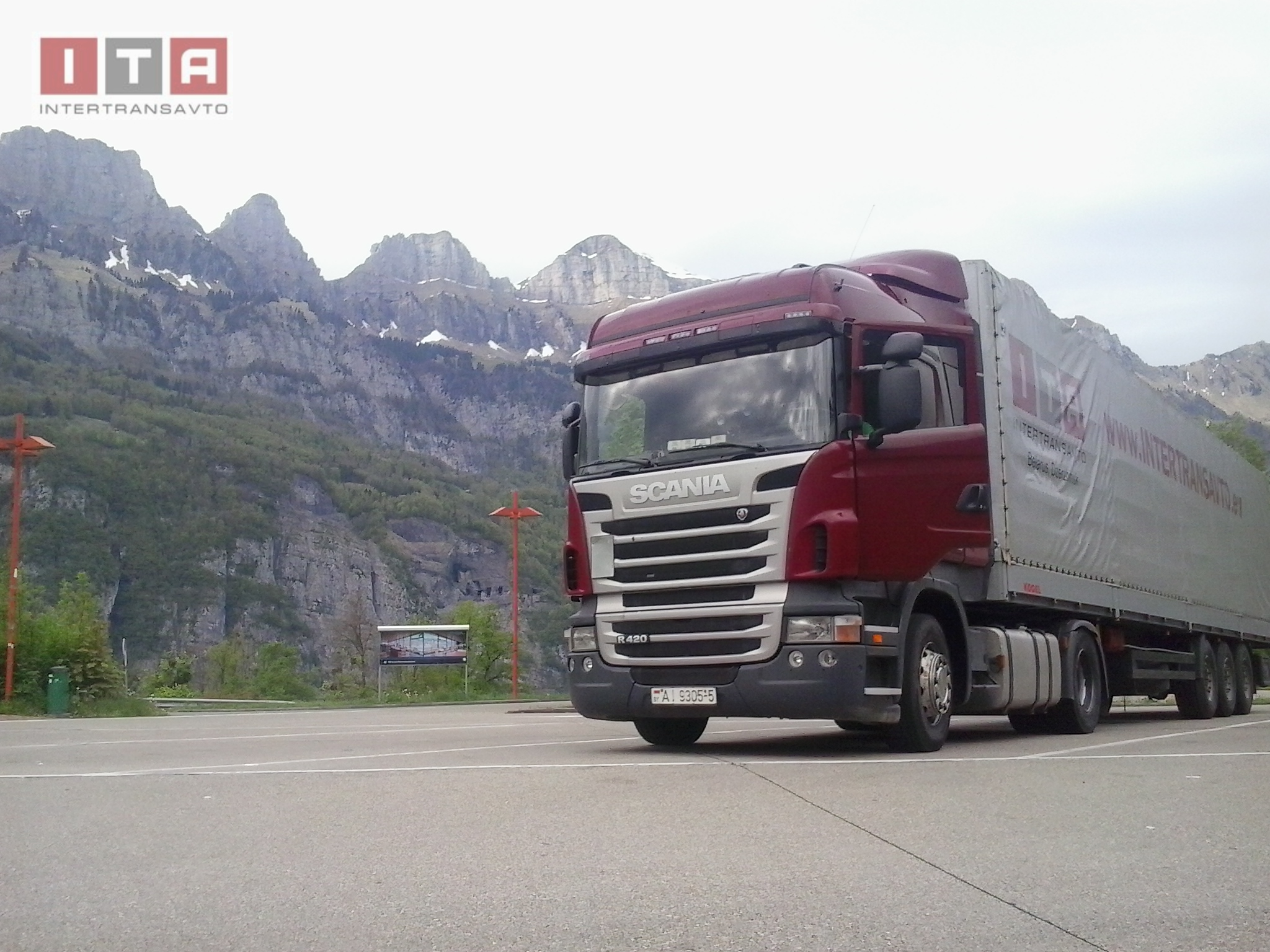 truck in the Alps